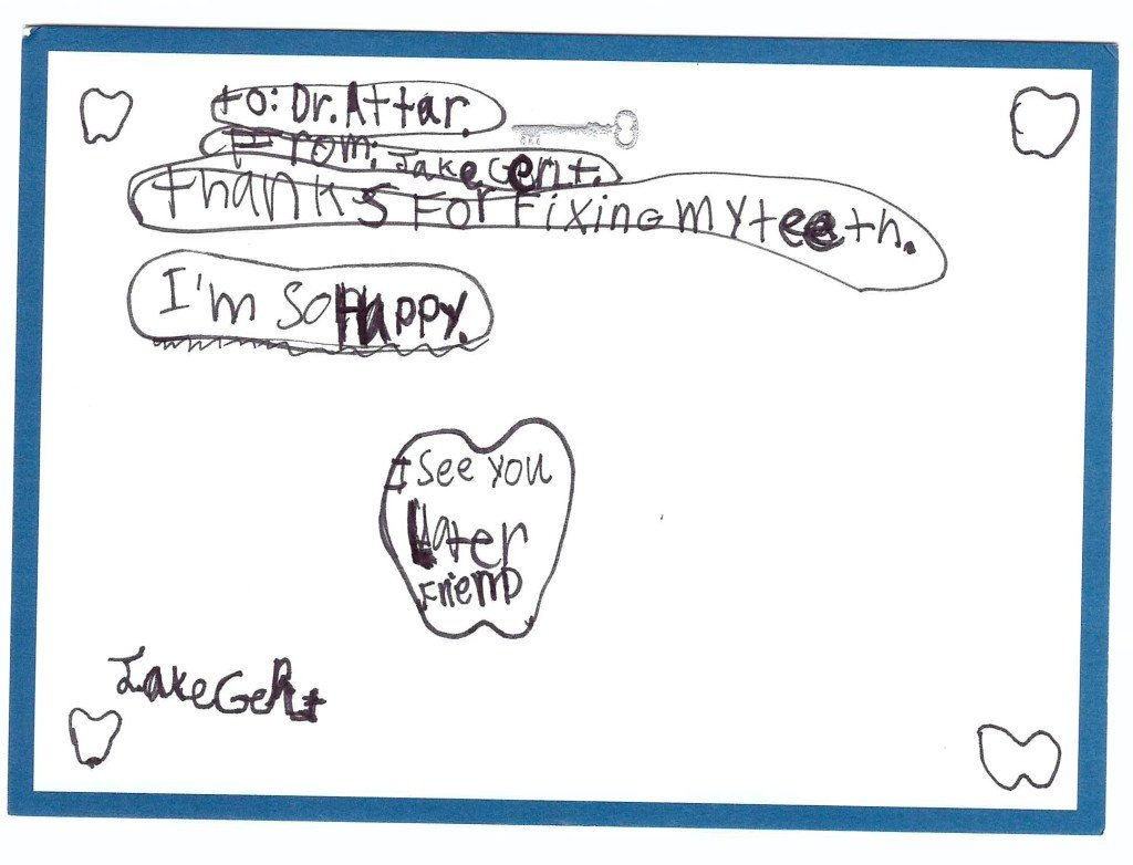 thank you note from child
