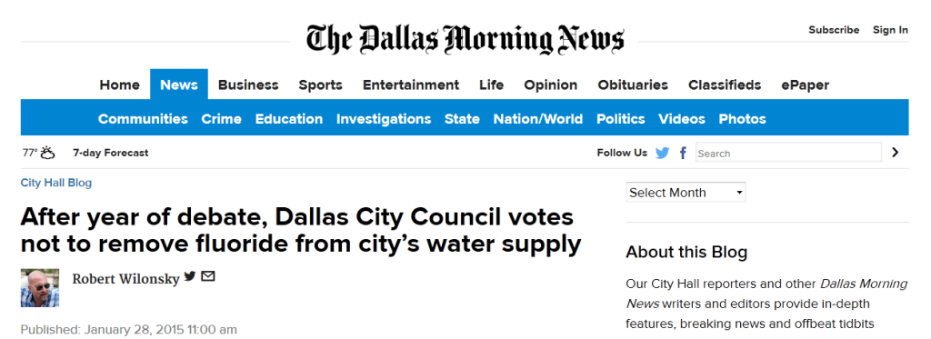 Dallas Morning News screenshot