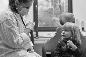 dentist and young patient