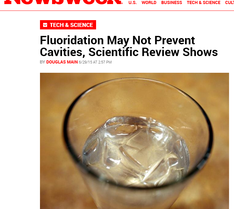 Research Group Finds Evidence for Fluoridation Wanting