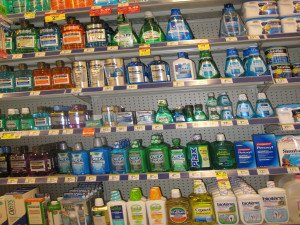 mouthwash on store shelves