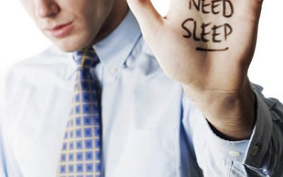"""raised hand saying """"need sleep"""""""