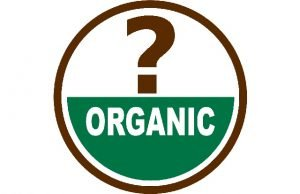 organic label with question mark