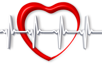 heart with heart rate superimposed