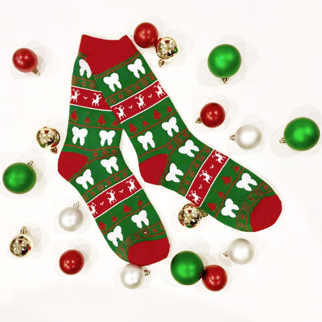 holiday teeth socks