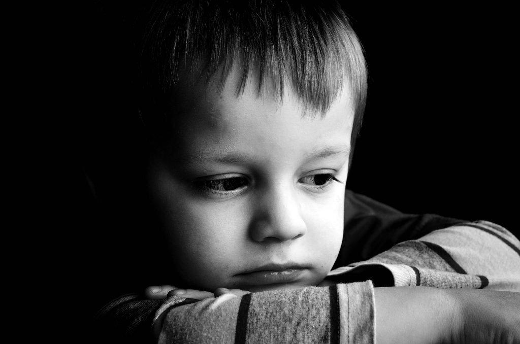 boy looking sad