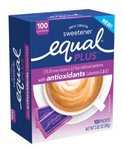 box of Equal PLUS antioxidants