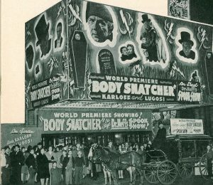 Body Snatchers theater marquee