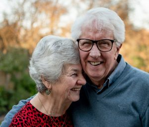 older adults smiling
