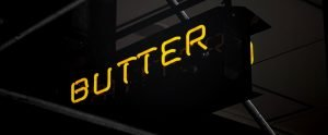 "sign reading ""butter"""