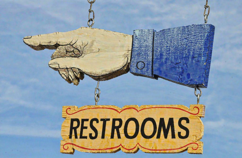 sign for restroom