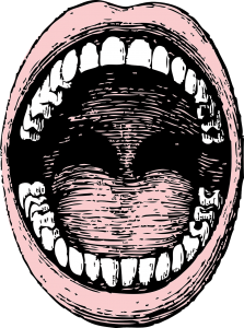 drawing of open mouth